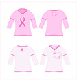 t-shirts with pink ribbon vector image vector image