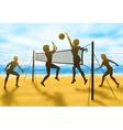 volleyball women vector image vector image