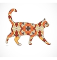 Abstract colorful cat vector image