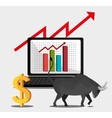 Financial market and stock market vector image