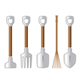 gardening isolated tools set vector image