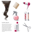 Hair care icons set vector image