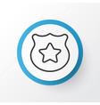 police badge icon symbol premium quality isolated vector image