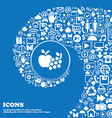 Fruits web icons sign Nice set of beautiful icons vector image