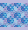 geometry hexagon color seamless fabric sample vector image vector image