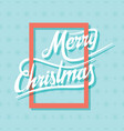 creative merry christmas poster design vector image