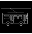 Trolleybus city municipal public transport vector image
