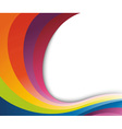 Abstract rainbow wave vector image