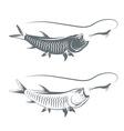 tarpon fish and lure template vector image