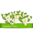 Nature Postcard with Chamomile Flowers for vector image vector image