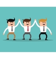 Project and Strategy design businessman cartoon vector image