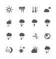 Weather icons set vector image vector image