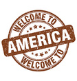 welcome to America vector image