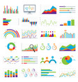 business data market charts diagrams and graphs vector image