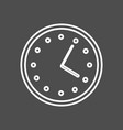 circular wall clock line icon outline sign vector image