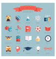 icon set for school vector image