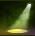 Lantern spotlight illuminates wooden scene red vector image