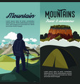 nature mountain adventure vertical banners vector image