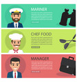 People professions fat web banners set vector image