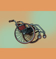 realistic wheelchair symbol international day of vector image