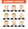 Set of business avatar of businessman vector image