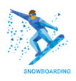 snowboarding cartoon snowboarder during a jump vector image