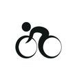 Bicycle logo monochrome on white background vector image