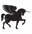 Winged Unicorn vector image