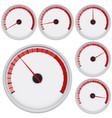 industrial blank gauge red scale vector image