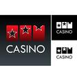 Slot and casino logo vector image vector image