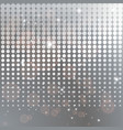 silver halftone background template vector image