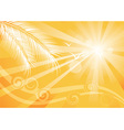 Summer yellow background vector image vector image