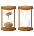 Sand Glass Time Clock vector image