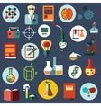 Science and research flat icons vector image vector image