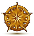 Royal golden geometric symbol stylized golden star vector image