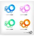 set of abstract circle elements vector image