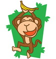 Monkey Happy vector image