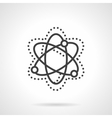 Particle interaction model simple line icon vector image
