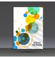 Abstract circles on simple background vector image