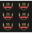 Golden Anniversary labels vector image