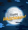 Halloween greeting card Happy Halloween vector image