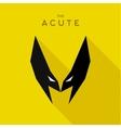 Mask Acute Hero superhero flat style icon vector image