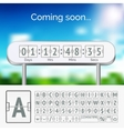 mechanical scoreboard grey alphabet with numbers vector image