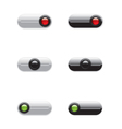 On Off switch buttons vector image