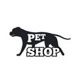 pet shop logotype design canine animal silhouette vector image