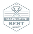 quality blacksmith logo simple gray style vector image
