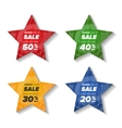 Summer sale star stickers vector image