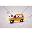 Taxi typographic modern poster with taxi cab vector image