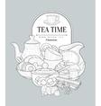 Tea Time Vintage Sketch vector image