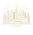 Thin line city landscape concept vector image